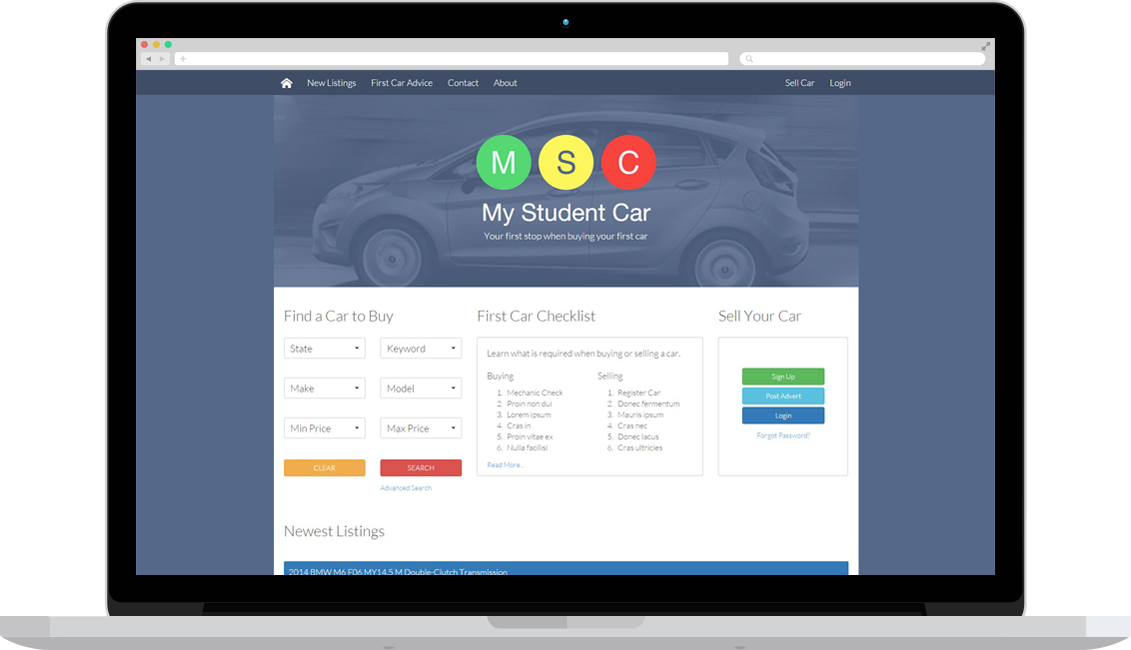 My Student Car Website